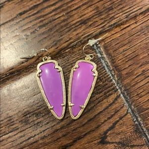 EUC Kendra Scott earrings - purple
